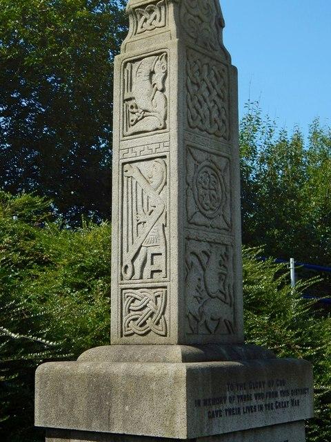 Nitshill War Memorial: detail