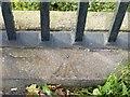 SP0189 : Rivet bench mark, Galton Bridge, Smethwick by Alan Murray-Rust
