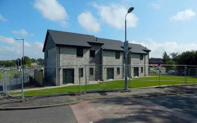 New housing beside Blackbyres Road