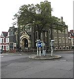 ST1067 : Mini-roundabout opposite five roads, Barry by Jaggery