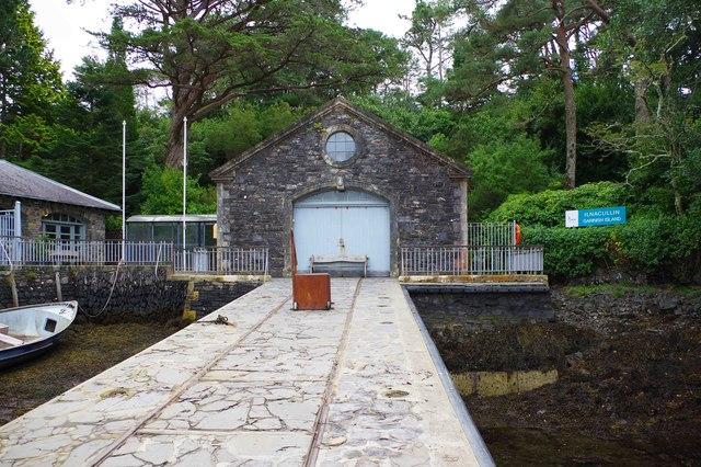 Ilnacullin/Garinish Island, Co. Cork - former boathouse by the Quay