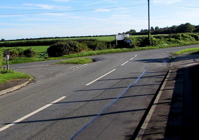 Junction in Eglwys Brewis, Vale of Glamorgan