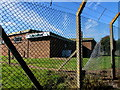 ST0169 : Costcutter behind a fence, Eglwys Brewis, Vale of Glamorgan by Jaggery