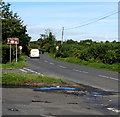 ST0169 : Happy Jakes direction sign, St Athan Road, Eglwys Brewis, Vale of Glamorgan by Jaggery