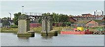 J3473 : Pontoon, Cromac Lock, River Lagan, Belfast (September 2019) by Albert Bridge