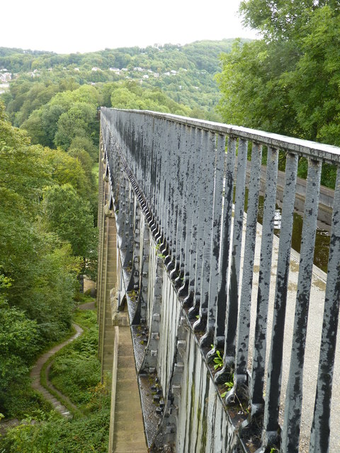 Railings above the river