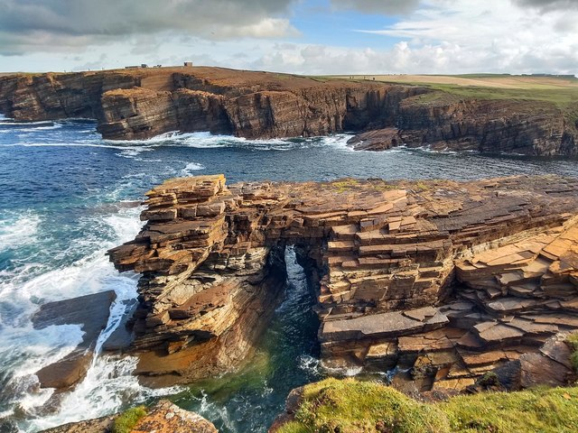 Natural arch, Brough of Bigging, Orkney