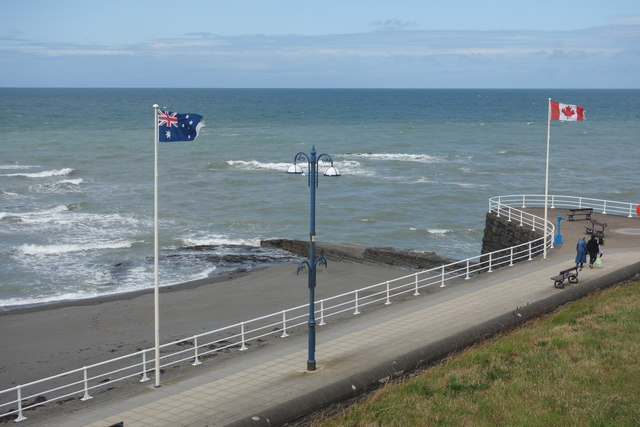 Flags on the New Promenade