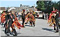 TG2208 : The Powderkeg Morris dancers in action by Evelyn Simak