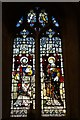 SO8418 : Stained glass window, St Margaret's chapel by Philip Halling