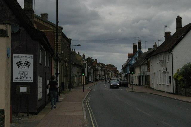 Needham Market High Street, south end