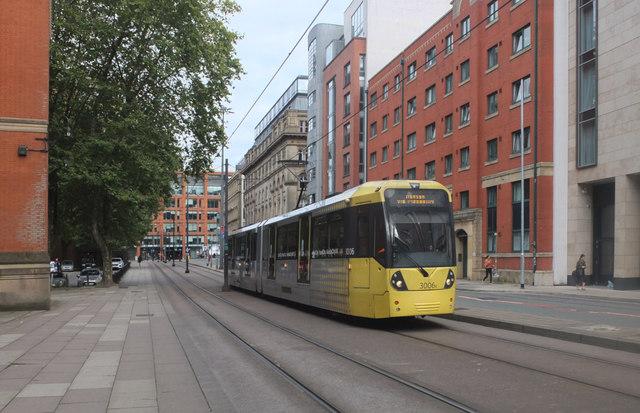 Tram. Aytoun Street, Manchester