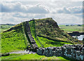 NY7166 : Hadrian's Wall crossing knoll by Trevor Littlewood