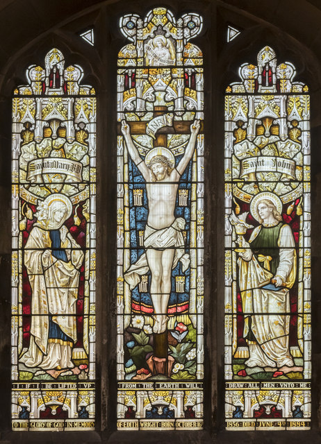 North window, St Mary's church, Broughton