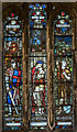 SE9608 : NW Stained glass window, St Mary's church, Broughton by Julian P Guffogg