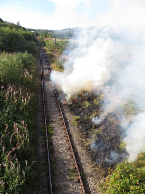 Lineside fire, Forge Side