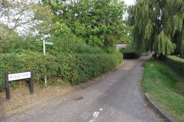 Public footpath along Old Way