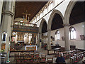 SE3132 : St Hilda, Cross Green - nave and rood screen by Stephen Craven