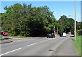 ST0168 : Leafy part of Cowbridge Road, St Athan by Jaggery