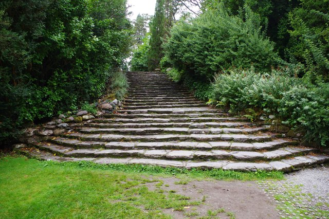 Ilnacullin/Garinish Island, Co. Cork - steps to the Grecian Temple