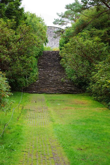 Ilnacullin/Garinish Island, Co. Cork - steps near Martello Tower