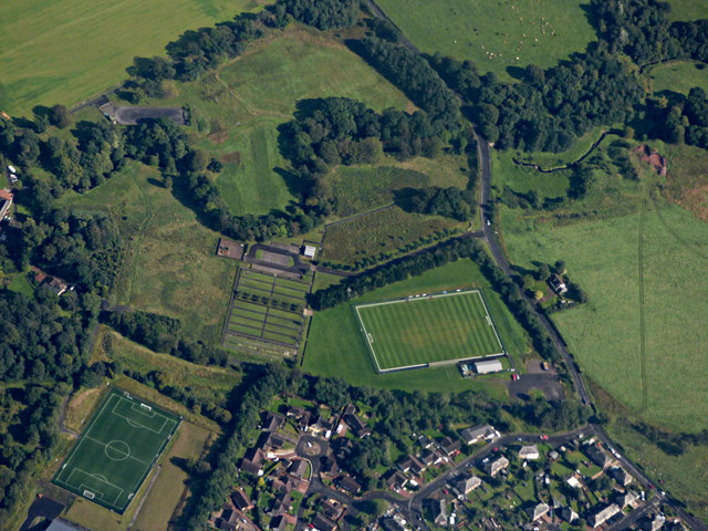 West Calder from the air by Thomas Nugent