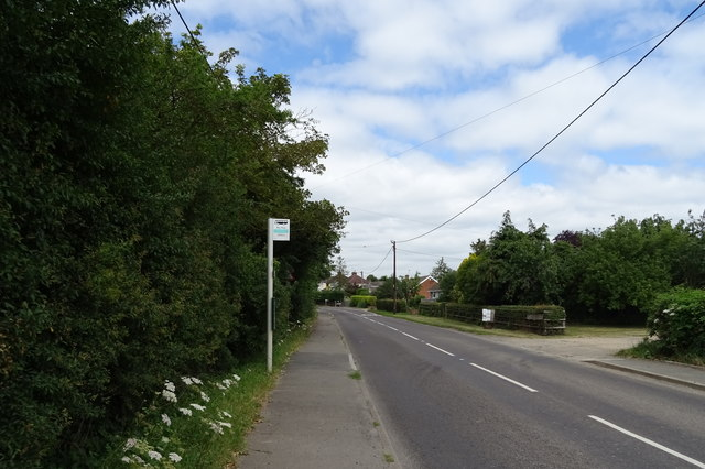Bus stop on Cumnor Road (B4017)