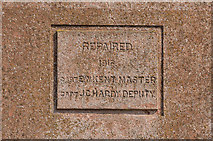 NU1240 : Inscription, Guile Point West by Ian Capper