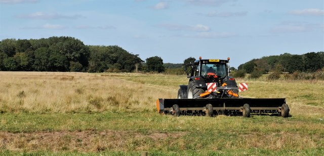 Mowing on Bonby Carrs