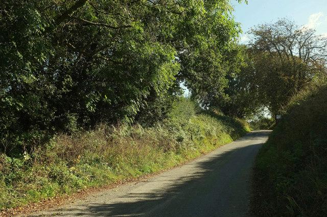Lane at Hareston Cross
