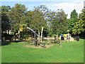 SK5837 : West Bridgford Park: playground and rowan trees by John Sutton