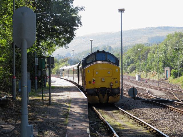 Class 37 at Rhymney