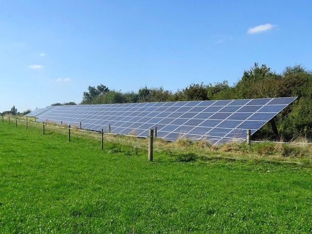 Solar arrays at Anslow Park