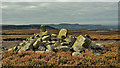NZ5912 : Two boundary stones and a Bronze Age round cairn by Mick Garratt