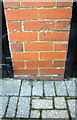 NY4057 : Benchmark on the garage of #84 Brampton Road by Roger Templeman