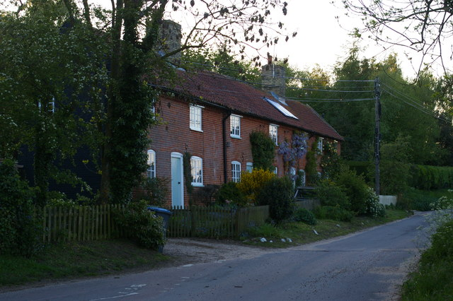 Cottages by the lane, south of Sweffling