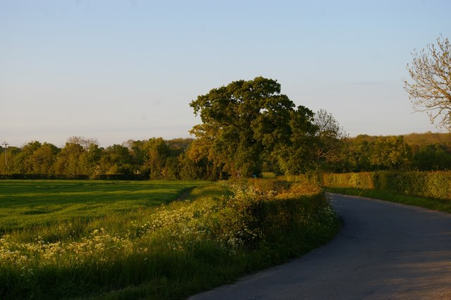 Lane northwards off the B1119 Rendham Road