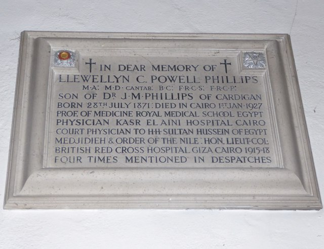 St Mary, Cardigan: memorial (15)
