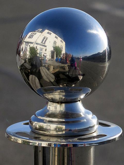 Reflection of Anchor Hotel, Kippford