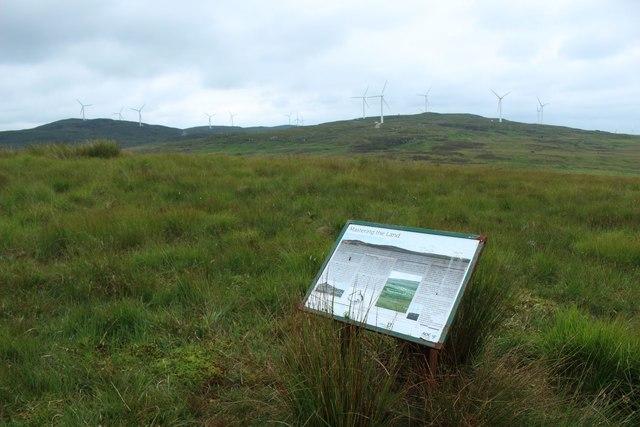 Information board on Knockniehourie