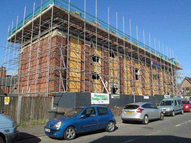 Building work on Salisbury Street, Leek