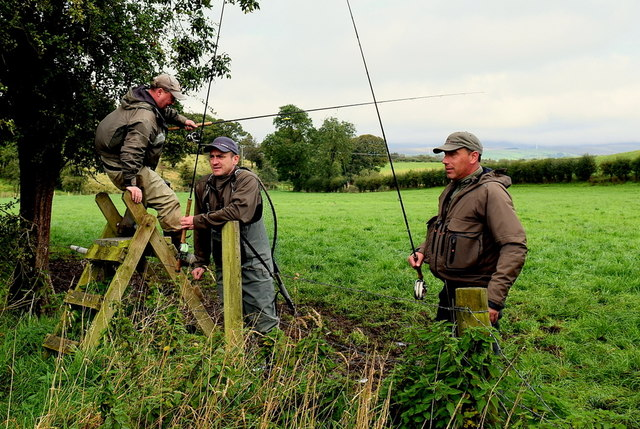 Anglers along the Camowen River