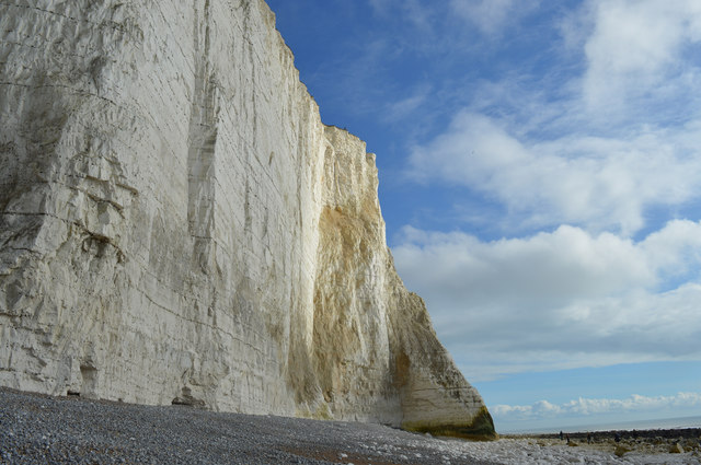 Dangers of walking on the cliff top and the beach below