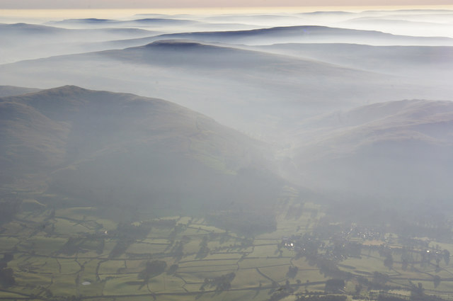 Barbon and Yorkshire Dales from the air