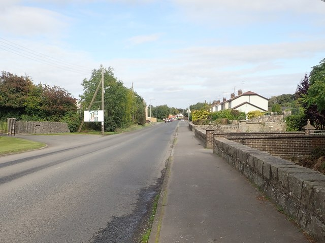 Houses on the A25 at Camlough