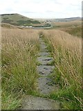 SE0210 : Paved path over Foul Moss by Graham Hogg