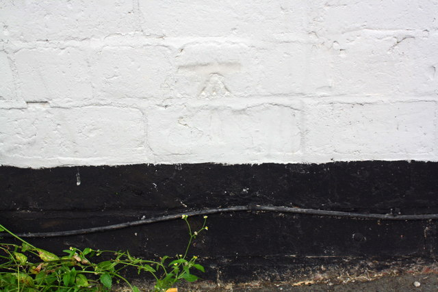 Painted-over benchmark on #34 Ripon Street