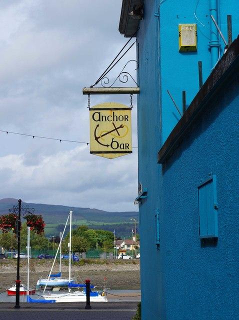 Anchor Bar (b) - sign, Davitt's Quay, Dungarvan, Co. Waterford