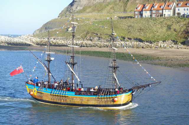 'Bark Endeavour' in Whitby Lower Harbour