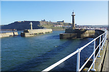 NZ8911 : Entrance to Whitby Harbour by Stephen McKay